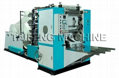Facial tissue machine with edge embossing