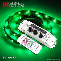 Zhuhai Bincolor BC-350-6A DC12-24V RF rotary knob DIY rgb LED lights controller