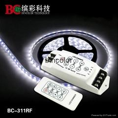 Bincolor DC12V-24V 3 channels RF remote LED dimmer controller