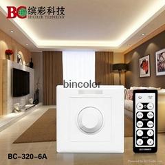 BC-320-6A single channel IR remote control DC12V-24V LED dimmer
