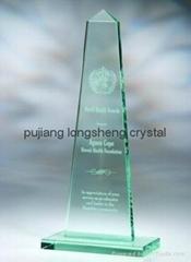 glass trophy jade glass trophy