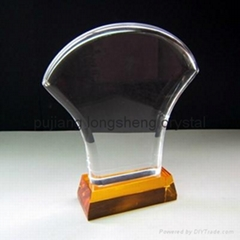 crystal trophy k9 custom made crystal trophy