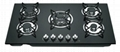 built-in gas stove 5 burners tempered