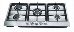 5 burners stainless steel built in gas stove & burners