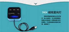 廠家低價批發 USB-hub2.0高速集線器 電腦週邊高端產