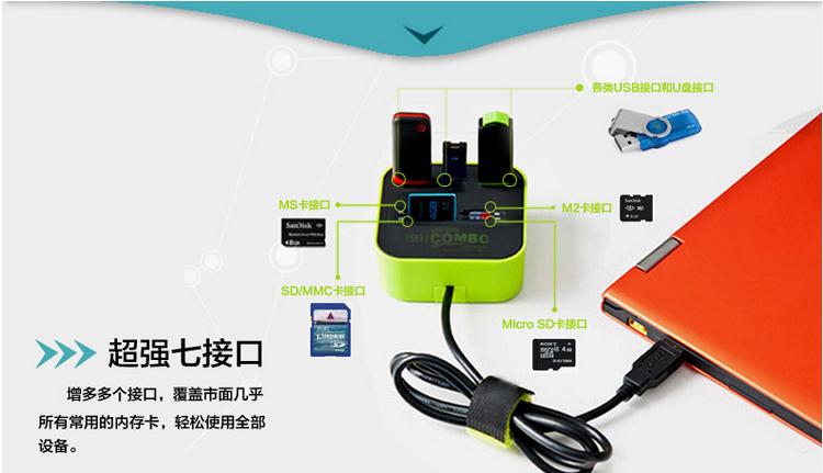 廠家低價批發 USB-hub2.0高速集線器 電腦週邊高端產品 2