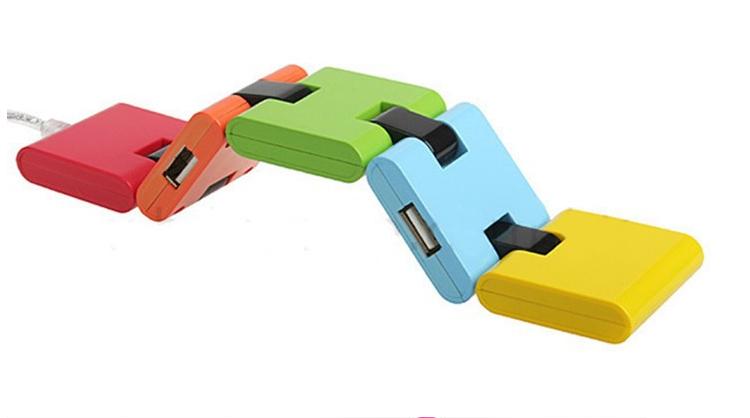 廠家供應 折疊HUB-05 USB-hub2.0高速集線器 1拖4口 1