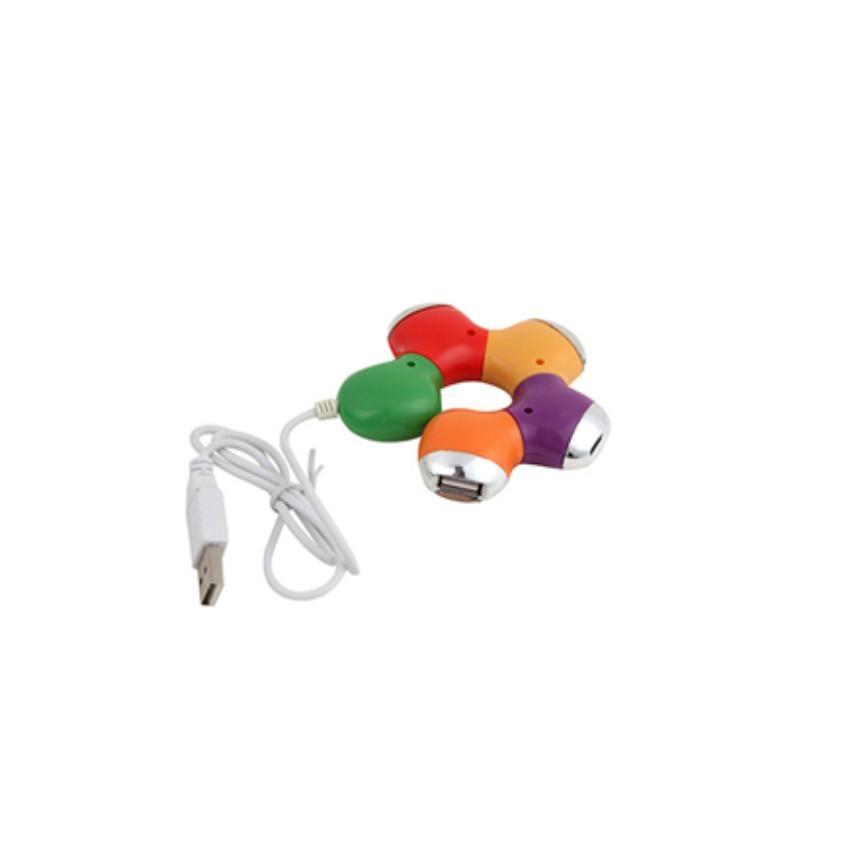 廠家供應 中性USB-hub紫荊花 旋轉梅花1.1 2.0集線器 低價 4