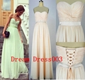 2014 New Stock  Chiffon Bridesmaid Dress Bridesmaid Gown  2
