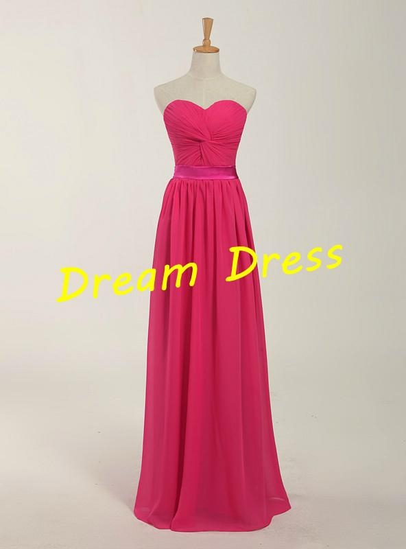 2014 New Stock  Chiffon Bridesmaid Dress Bridesmaid Gown  3