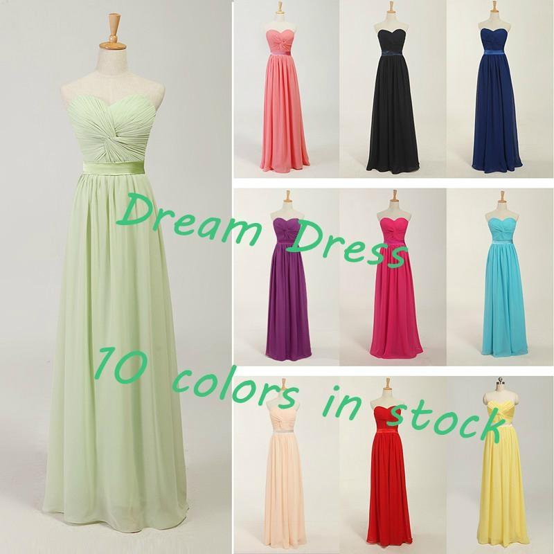 2014 New Stock  Chiffon Bridesmaid Dress Bridesmaid Gown  1