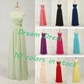 2014 New Stock  Chiffon Bridesmaid Dress
