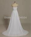 2014 Hot New Stock US Size 2~20 White Chiffon  Applique Beading Wedding Dresses  5