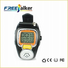Well-designed 462MHz-467MHz Freetalker Watch Walkie Talkie(Up to 6km of Range)