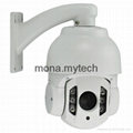 Auto Tracking Full HD IP High speed dome cameras 10X optical zoom 2