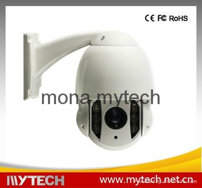 Mini Outdoor IP PTZ Dome Camera 4x optical zoom 1