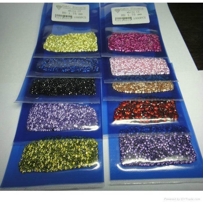 彩色圆形锆石裸石0.7-3mm 1