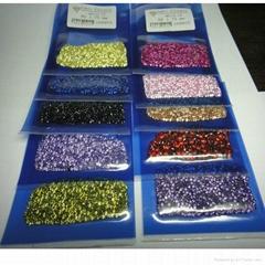 彩色圆形锆石裸石0.7-3mm