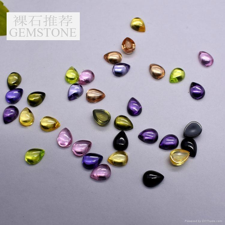 彩色圆形锆石裸石0.7-3mm 2