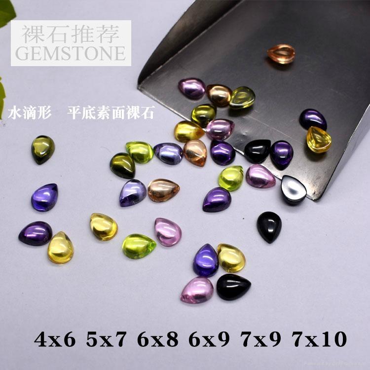 彩色圆形锆石裸石0.7-3mm 5