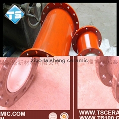 wear resistant ceramic tube and elbow with steel pipe