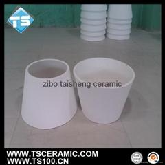 Alumina ceramic  Cone-shaped Tube, 92% 95% alumina