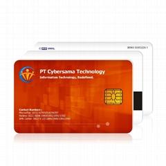 memory rfid contact ic  card