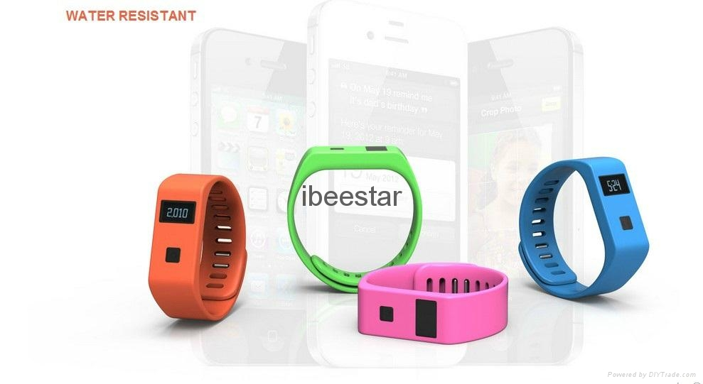 waterproof wireless bluetooth wristband with mobile APP  12