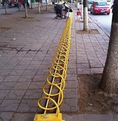 自行车锁车架