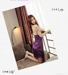 耶妮婭紫色柔情性感睡裙X3205