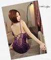 耶妮婭紫色柔情性感睡裙X3205 2