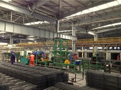 automatic wire mesh welding line(type C line bar coiled, cross bar pre-cut)