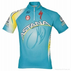 2014 custom sublimation team short sleeve cycling jersey