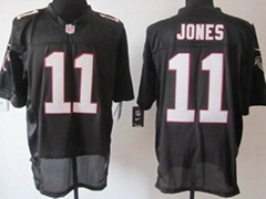 America Football jerseys 11#Jones black color men's Elite Jerseys