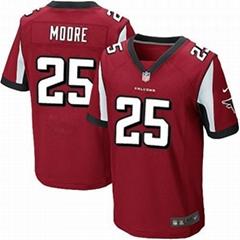 America Football jerseys 25#Moore red color men's   Elite Jerseys