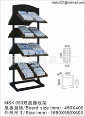 wood flooring display stand for waistline tile with two sides