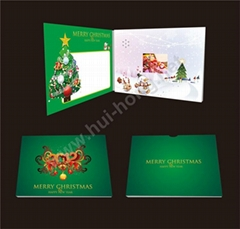 Christmas video greeting card 4.3 inch video brochure
