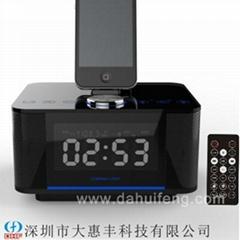 iphone6/5S底座双USB充电触控蓝牙音箱酒店客房闹钟播放器
