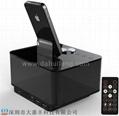 iphone6/5S底座双USB充电触控蓝牙音箱酒店客房闹钟播放器 3