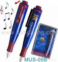 Music sound led light pen