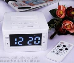 星級酒店客房藍牙鬧鐘播放器音箱