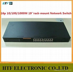 OEM/ODM 16p 10/100/1000M steel case unmanaged FAST gigabit ethernet switch