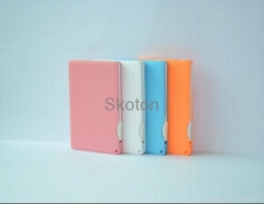 1800 mah Super Thin Credit Card Power Banks Backup Power USB Chargers