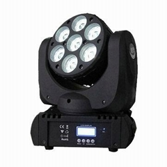 7*10W RGBW 4in1 Quad LED Beam Moving Head Light