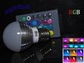 110V E27 RGB 3W 16 Color Change Lamp LED Light Bulb+24 Key IR Remote Controller 2