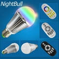9W Aluminum Body RGBW E27 LED Bulb Light With 2.4G RF Remote Control 3