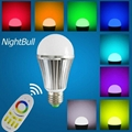 9W Aluminum Body RGBW E27 LED Bulb Light With 2.4G RF Remote Control 4