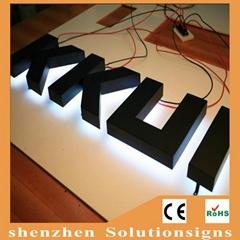 backlit Stainless Steel Advertising LED Channel Letter
