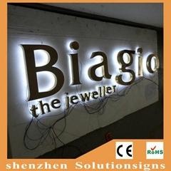backlit led channel letter lights sign with good quality