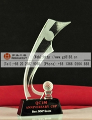Supply Guangzhou Golf crystal trophy
